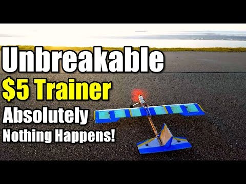 $5 Trainer Rc Plane Project EP2 Absolutely Nothing Happens To This Homemade  Airplane