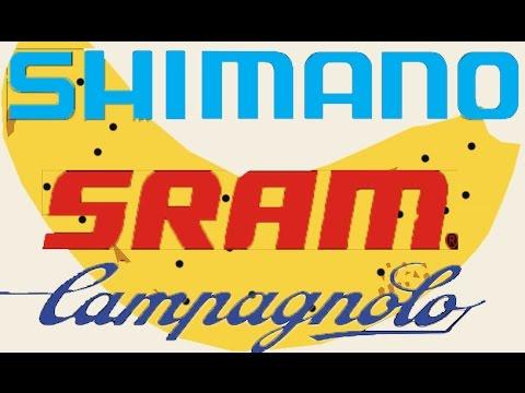 Сравнение: SHIMANO против SRAM против CAMPAGNOLO