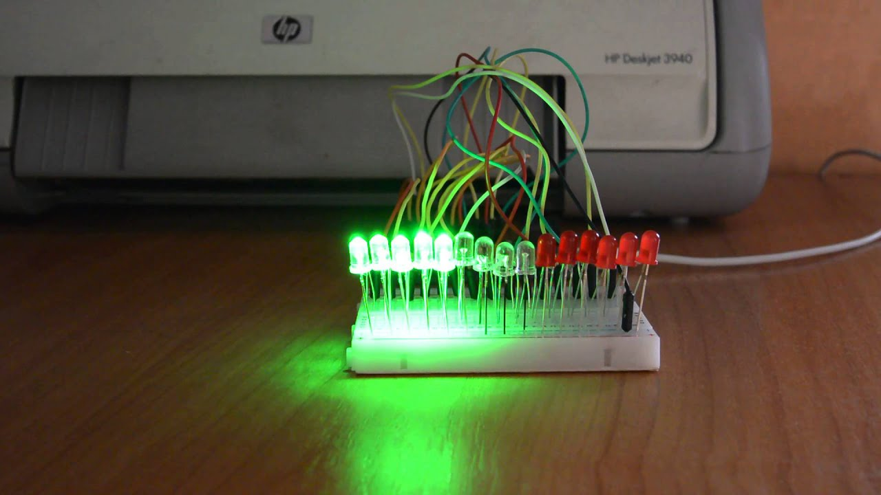 Arduino led vu meter equalizer youtube