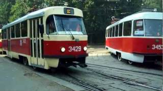 Tatra trams in Moscow, Russia