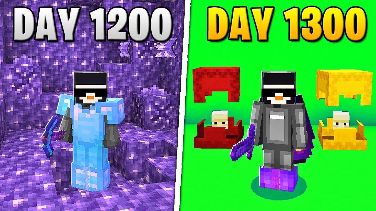 I Survived 1,300 Days in HARDCORE Minecraft...