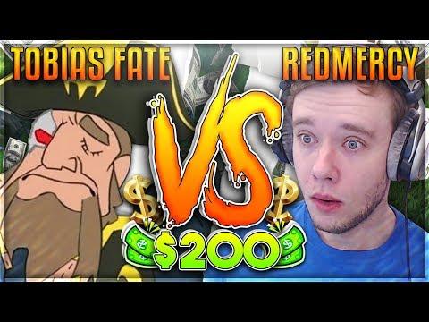 REDMERCY VS TOBIAS FATE IT FINALLY HAPPENED $200 1v1 SHOWDOWN  - League of Legends
