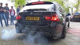 900hp bmw 335i e91 crazy revs burnout