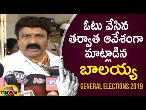 Balakrishna Aggressive Speech After Casting His Vote   AP Elections Latest Updates   Mango News