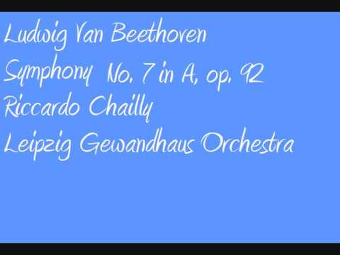 Ludwig Van Beethoven Riccardo Chailly Symphony no  7 in A