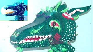 How to make a fire breathing dragon head