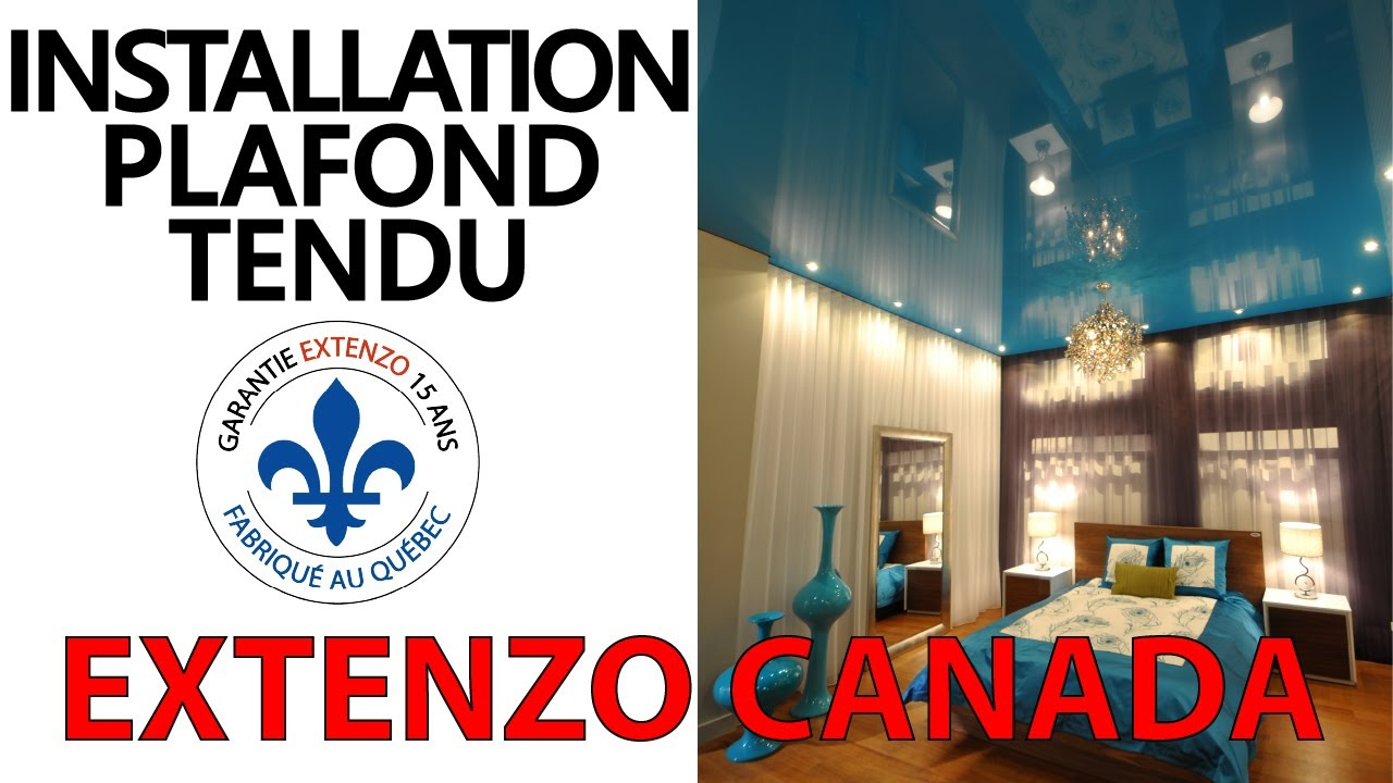 extenzo canada installation d 39 un plafond tendu extenzo fev 2012 youtube. Black Bedroom Furniture Sets. Home Design Ideas