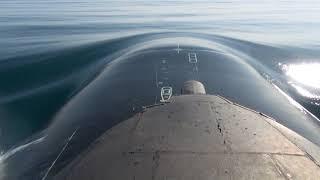Пуск крылатой ракеты с атомной подлодки «Томск»