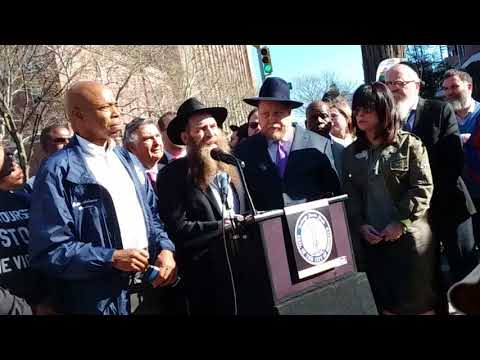 Press Conference Condeming the anti-Semitic Assault of a Jewish Man in Crown Heights, Brooklyn