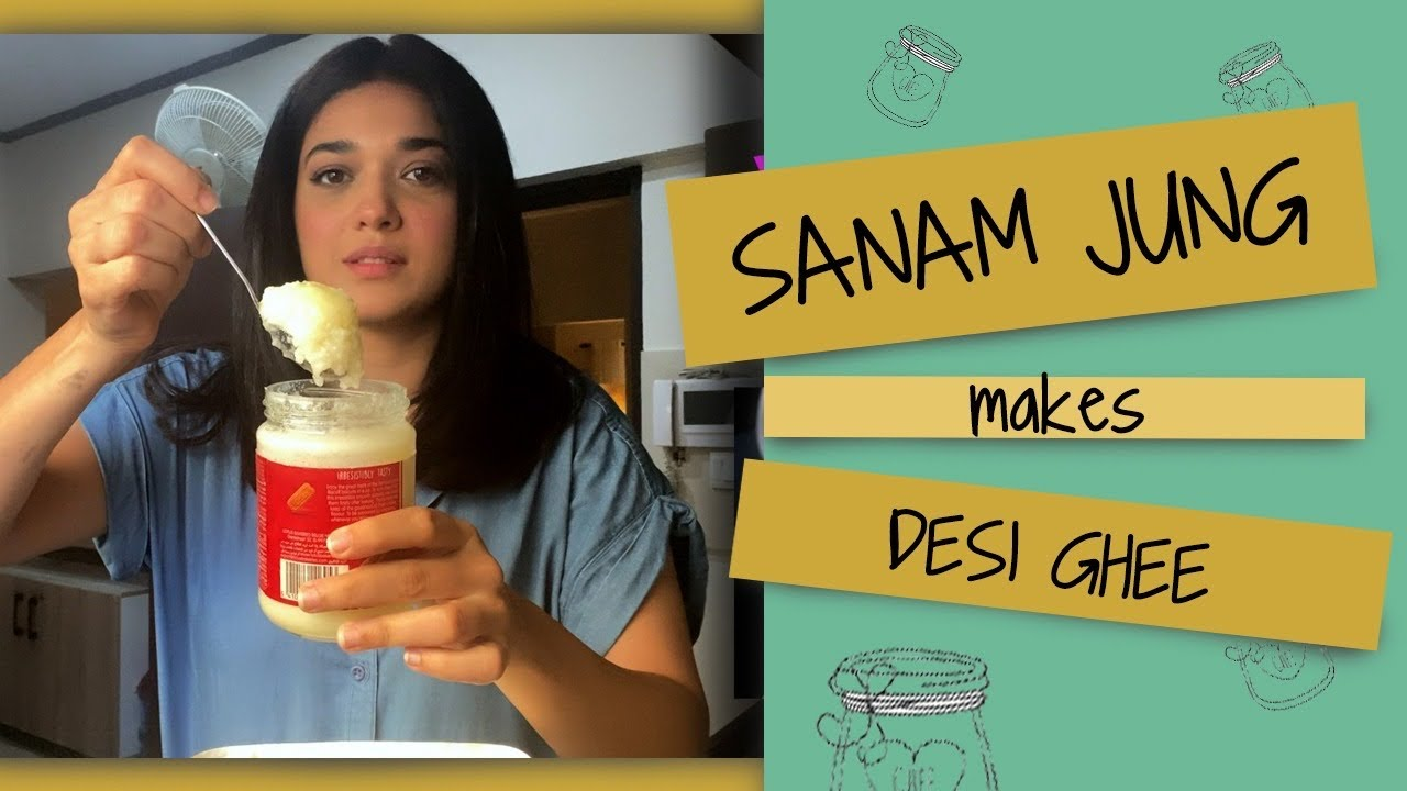 Download Sanam Jung makes  DESI GHEE for her daughter Alaya !