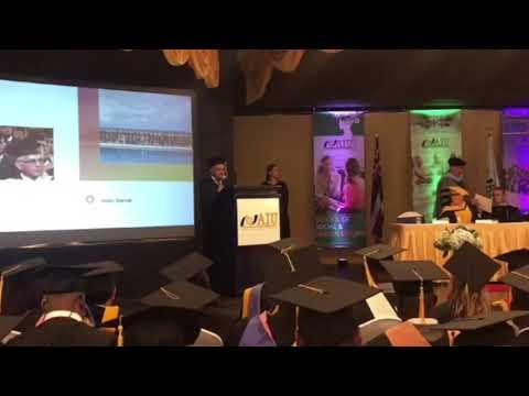 Graduación  de Nuestro Presidente el Sr Pedro Suarez en administración de Finanzas estratégicas