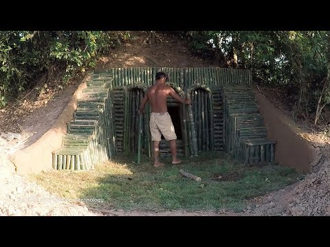 Primitive Technology, Continue build ant-hill house with bamboo