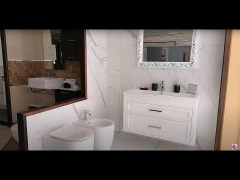 www.ceramicasud.it - Rivestimento moderno bianco opaco effetto marmo 150 x 75 cm. Rettificato