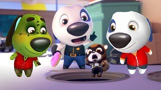 Talking Tom Gold Run Android Gameplay - Zombie Ben vs Talking Hank vs Deputy Hank