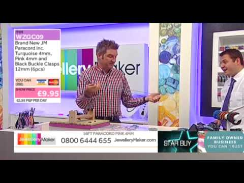 Paracord Pack on The Late Show with Ed McKay (JewelleryMaker) LIVE 19/09/2014