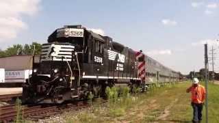 Rare Train! NS B90 Switches MiTrain Commuter cars!