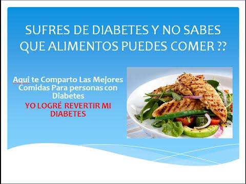 Comidas Para Diabeticos Tipo 1 y Tipo 2 Diabetes Tipo 1 y