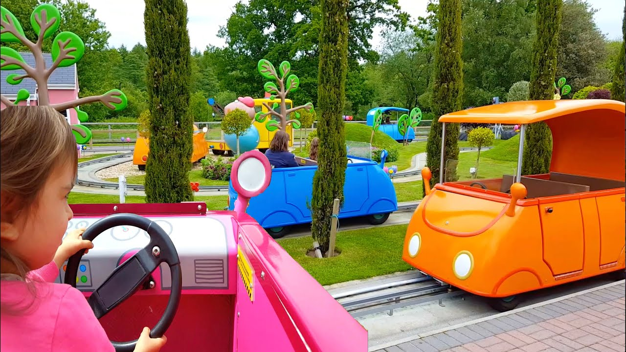 Colour car you drive - Driving Daddy Pig Car Ride Peppa Pig World Park Peppa Pig Song Learn Colours Youtube