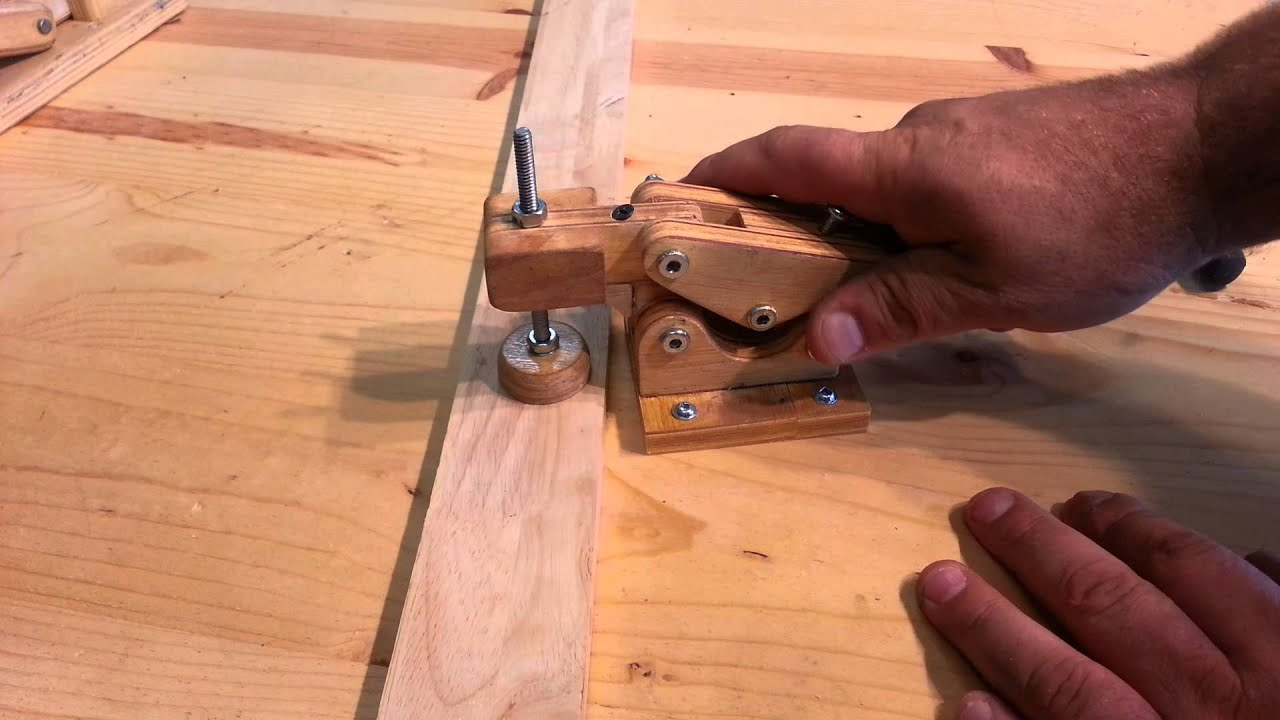 "Woodworking - homemade ""hold down toggle clamps"" - YouTube"