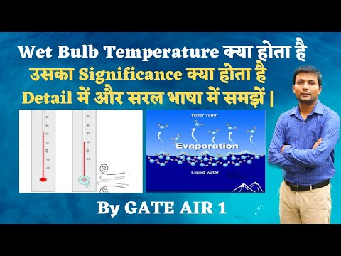 Dry Bulb, Wet Bulb, Dew Point Temperature and its significance for GATE in Hindi