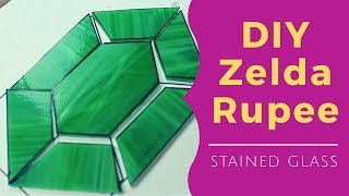How to make a Zelda Rupee out of Stained Glass
