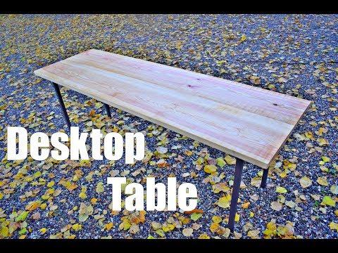 Woodworking - Pine Desktop Table