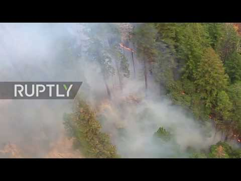 USA: Aerial footage captures aftermath of deadly wildfire in Butte County