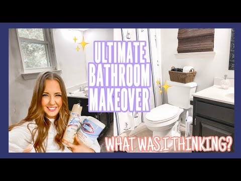 DIY Small Bathroom Remodel | Bathroom Renovation Decor and Organization | Kenzie Kate Clean with Me