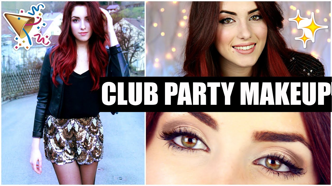 PARTY / CLUB Make Up Tutorial Deutsch + Party Outfit Ideen I LuisaCrashion    YouTube