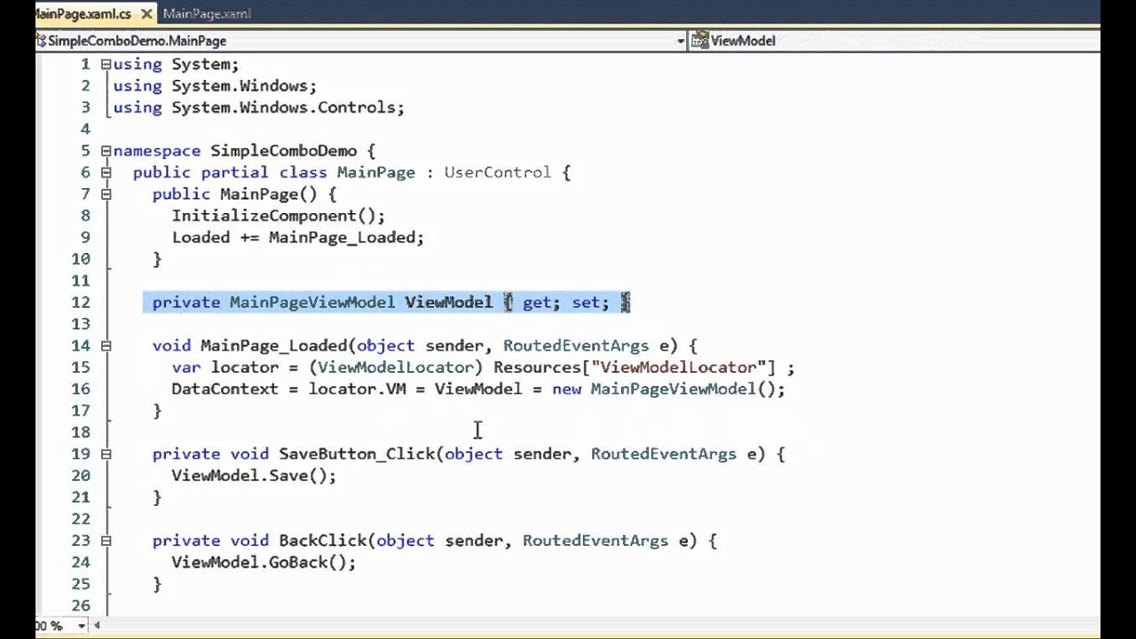 Code sample: Simple combo box (Silverlight) - IdeaBlade DevForce 2010