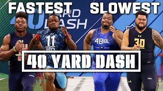 Slowest & Fastest: 40-Yard Dash Times of the 2010's!