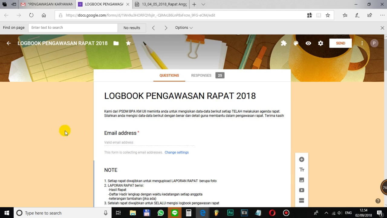 Magang Bpa Km Uii Tutorial Logbook Youtube
