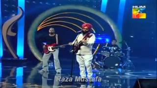 Bullah Ki Jana Rabbi Shergill Live Performance in 1st Hum Tv Awards Show 28th April 2013