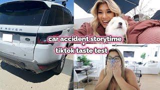 car accident storytime + viral tiktok taste test!!