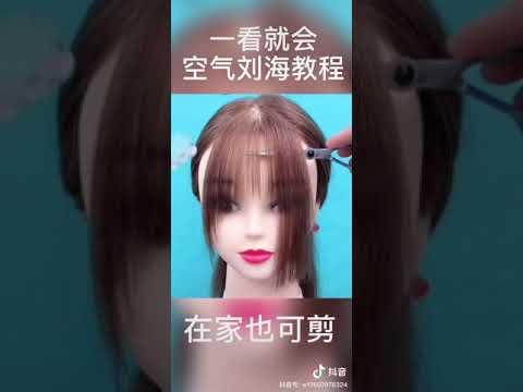 Cách cắt tóc mái đẹp trên Tiktok Trung Quốc