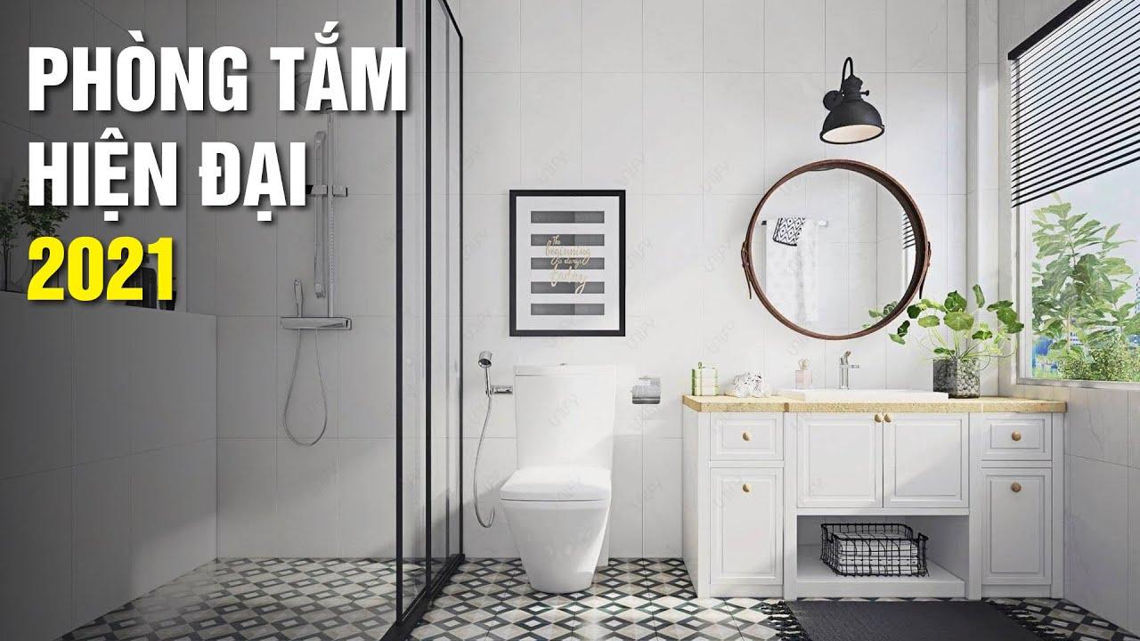 Tư vấn thiết kế phòng tắm đẹp hiện đại cho nhà thêm tiện nghi