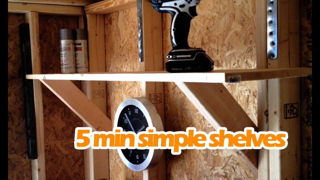 Simple Easy DIY Shelves Under $15 | Sturdy Shelving Anyone Can Make ...
