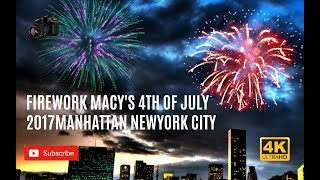 Firework Macy's 4th of July 2017 || Manhattan New York City || Vlog  || 4K
