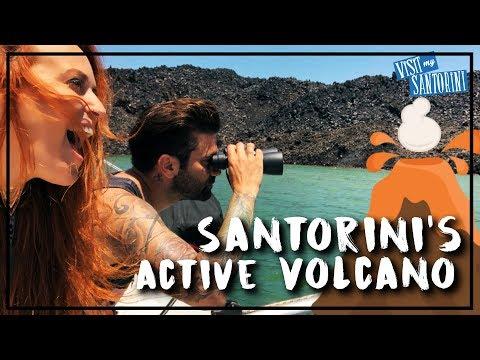 Near death experience around the Volcano of Santorini   Over reacting as always