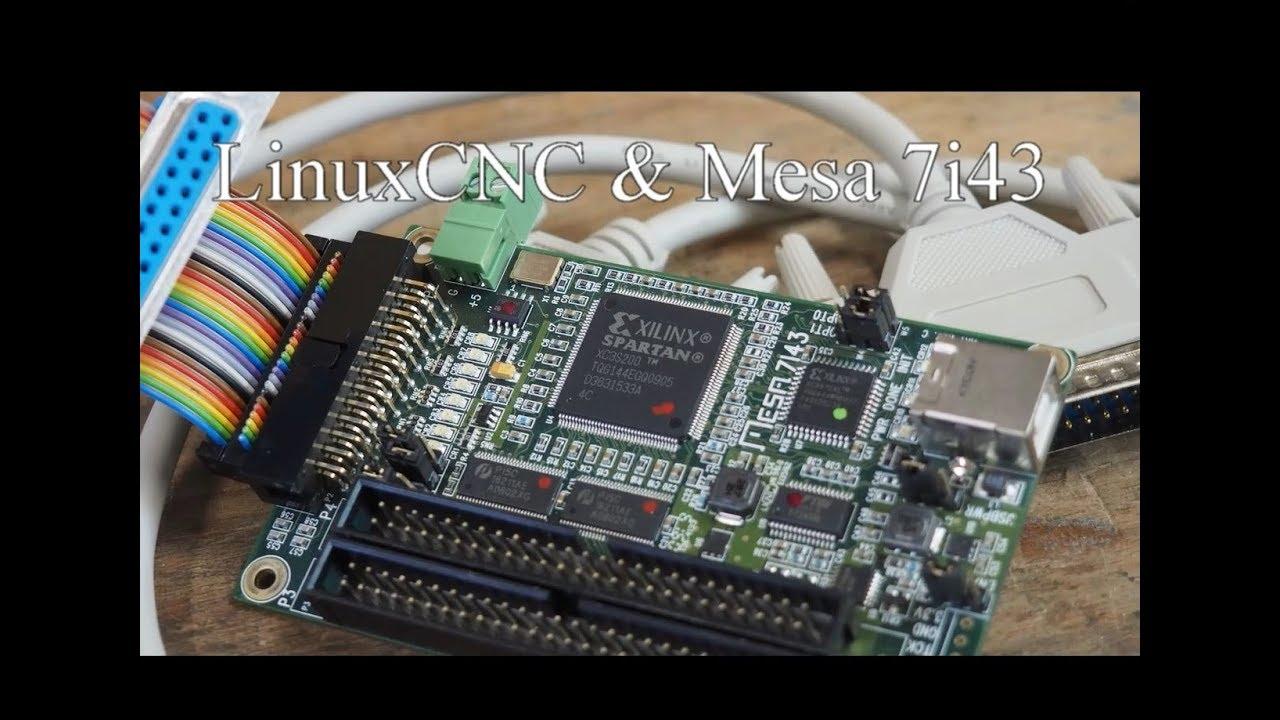#18 LinuxCNC & Mesa 7i43 - erste Schritte - Anschluss und PNCConf über  Parallelport