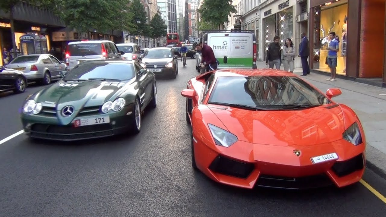 The Great Arab Supercar Invasion Of London Summer Youtube