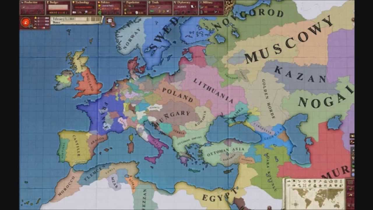 Victoria 2 Timelapse EU4 Starting Map