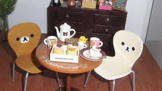 Re-ment: Rilakkuma Cafe Table Chairs Unboxing - Miniaturas Unboxing