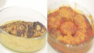 سمك بوري بالفرن - فريك بمخلل الزيتون - المسقعة الخشتية   طبخة ونص الحلقة كاملة