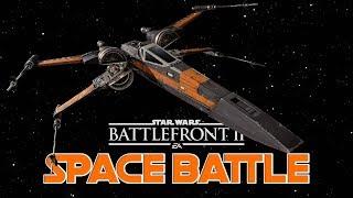 NEW Space Battle Gameplay - Star Wars Battlefront 2