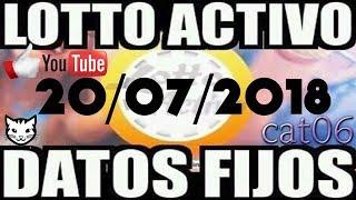 LOTTO ACTIVO DATOS FIJOS PARA GANAR  20/07/2018 cat06