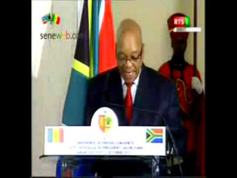 En Visite à Dakar voici le Discours de Jacop Zuma