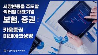 [시장반등을 주도할 섹터별 대표기업] 보험/증권 (키움증권,미래에셋생명)
