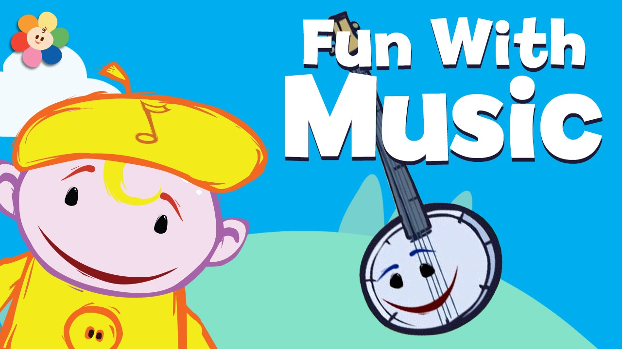 Uncategorized Music Cartoons music cartoons for children musical instruments banjo learn kids the notekins youtube