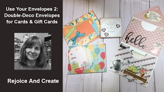 Use Your Envelopes 2:  Double Envelopes for Cards, Gift Cards, Magnets and Teabags